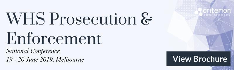 WHS Prosecution & Enforcement Conference