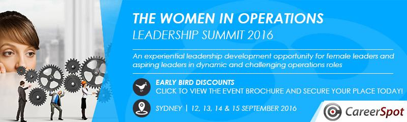 The Women in Operations Leadership Summit 2016